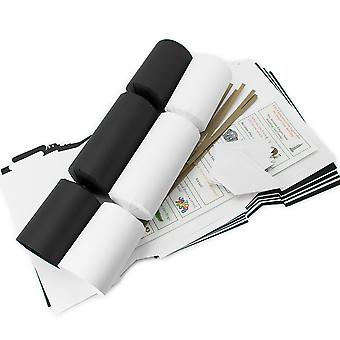 8 Jumbo Monochrome Make & Fill Your Own DIY Recyclable Christmas Crackers