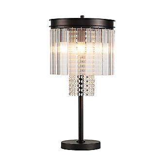 Table Lamp, 6 Light E14, Brown Oxide