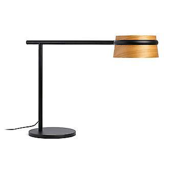 LED Tischleuchte schwarz, Holz mit Clip
