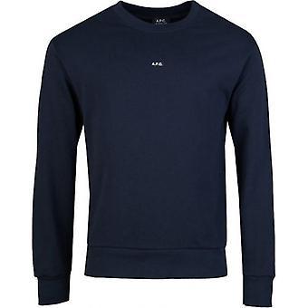 Apc Steve Micro Logo Crew Neck Sweatshirt