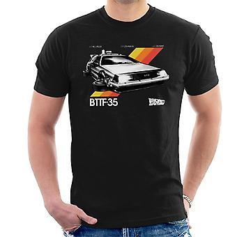Back to the Future 35th Anniversary Delorean Men's T-Shirt