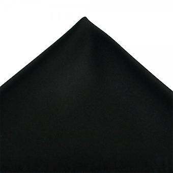 Legături Planet Plain Black Pocket Square Batista