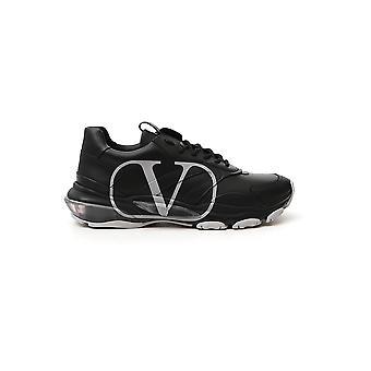 Valentino Garavani Uy2s0b05dds00a Heren's Black Leather Sneakers