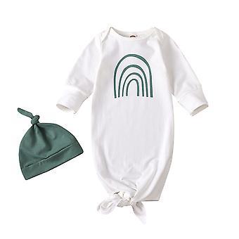 0-6m Infant Sleeping Bag Set Estate Autunno Bambino Dolce Cartoon Rainbow Stampa