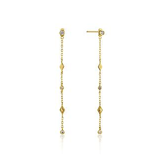 Ania Haie Silver Shiny Gold Plated Bohemia Shimmer Drop Earrings E016-06G
