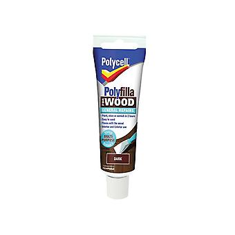 Polycell Polyfilla For Wood General Repairs Tube Dark 75g PLCWGRD75