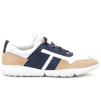 Zapato deportivo para hombre de color azul blanco y beige de Tod