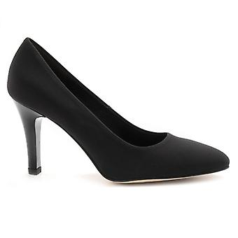 Black Brunate Décolleté In Fabric With High Heel