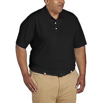Essentials Men's Big-Tall Quick-Dry Golf Polo Shirt Shirt, -schwarz, 3XLT