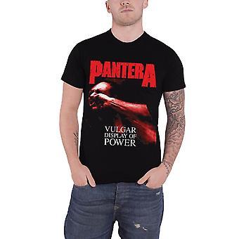 Pantera T Shirt Vulgar Display Of Power band logo Official Mens Black
