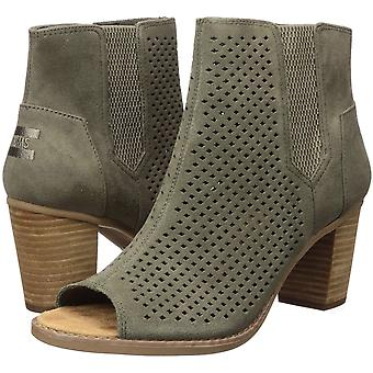 TOMS Women's Mallorca Peep Toe Fashion Boot