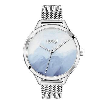 HUGO Hugo 1540061 Smash Blue Blush Dial Inoxidável Relógio de Senhoras