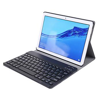 ABS فائقة رقيقة انقسام لوحة المفاتيح بلوتوث حالة لهواوي M5 / C5 10.1 بوصة، مع وظيفة قوس (أسود)