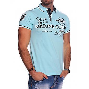 Tronçon de broderie Mens court manchon Polo T-Shirt Polo Shirt sportif occasionnel