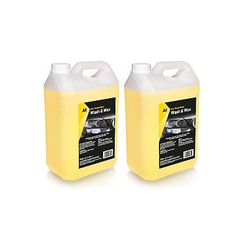 Waschen und Wachs Auto Shampoo 2 x 5 Liter AA Auto Essentials