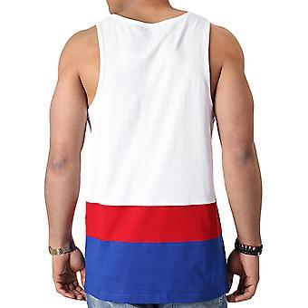 New Era Mens NFL New York Giants Team Color Block Vest Tank Top - Branco