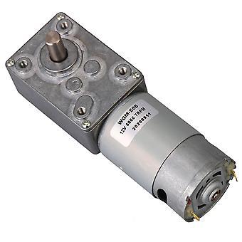 Sølv WGM-555 Lav hastighed Worm Gear Motor DC 12V 7RPM forskellige lejlighed