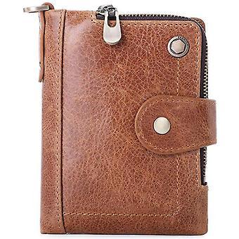 Pocket Passport Short Cover Card Holder Leather Blocking Wallet