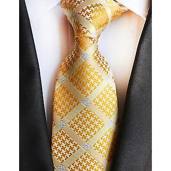 Fashion Silk Plaid Jacquard Weave Necktie