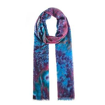 Bright Summer Blue & Pink Cashmere Mix Ladies Scarf by Butterfly Fashion London