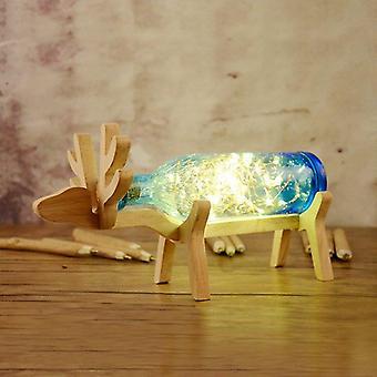 Lampe en bois de bouteille de cerf