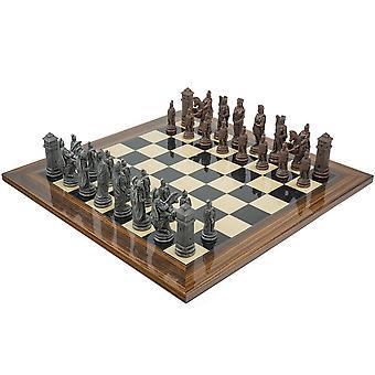 The Berkeley Chess Roman Metal & Palisander Chess Set