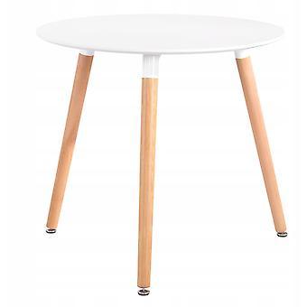 Vysoký konferenční stolek - jídelní stůl bílý - 60x71 cm