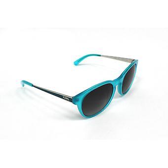 Karl Lagerfeld KL Glossy Turquoise Womens Plastic Round Sunglasses KS6009 116 K