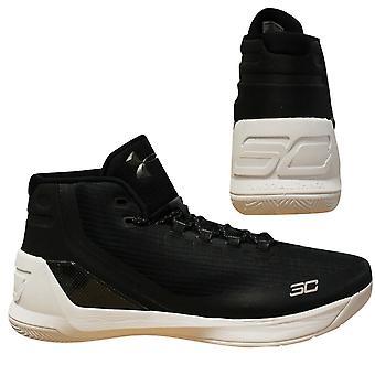 Под броней UA Карри 3 Мужчины Черный Баскетбол Обувь Тренеры 1269279 006 Y11B