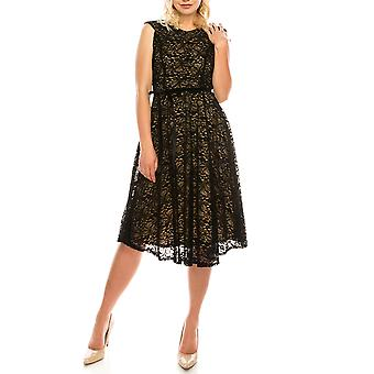 Velveted Lace A-line Dress