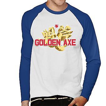 Sega Golden Axe Hombres's Baseball camiseta de manga larga