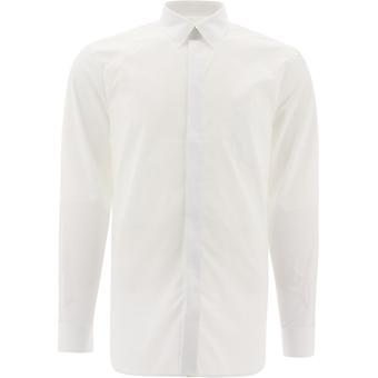 Givenchy Bm60np109f100 Men's White Cotton Shirt