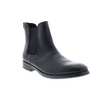 Andrew Marc Bennett  Mens Black Leather Chelsea Boots