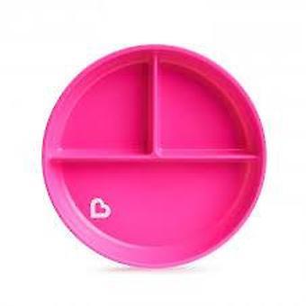 Munchkin stanna sätta sugplatta rosa