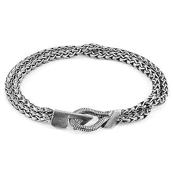 ANCHOR & CREW Brixham Ormeggio Bracciale catena d'argento