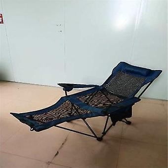 Outdoor Camping Folding Chair Office Lunch Bed Portable Mesh Breathable Crib