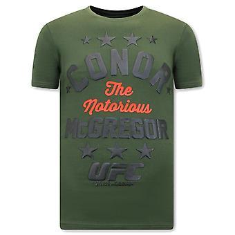 Den berygtede Mcgregor Print-shirt - UFC - Grøn
