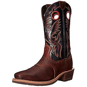 ARIAT Men's Heritage Rough Stock Cowboy Boot Square Brown 11 EE US