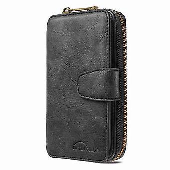 Shockproof wallet leather case for iPhone 11 Pro 5.8 - Black
