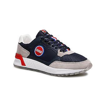 Men's Shoes Colmar Sneaker Dalton Originals 034 Suede/ Navy Blue Fabric Us21co03