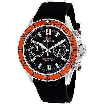 Seapro Thrash Chronograph Quartz Black Dial Men's Watch SP0334