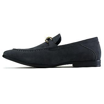 Men's Brass Snaffle Formal Shoes Grey