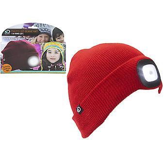 Chapéu de Cúpula Da Beanie com luz para crianças