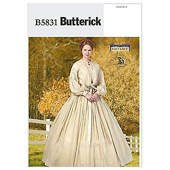 Butterick Sewing Pattern 5831 Misses Historical Dress Costume Size 8-16 Uncut