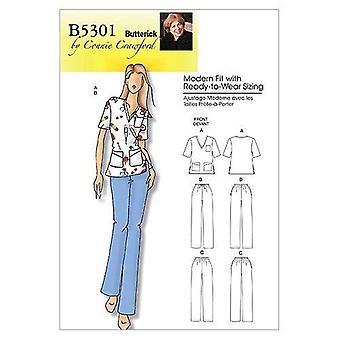 أنماط Butterick B5301 يفتقد أعلى المرأة والسراويل، المرأة الحجم (XXL-1X-2X-3X-4X-5X-6X)