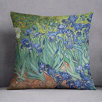 Irises by van gogh cushion