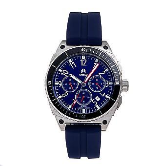 Shield Sonar Chronograph Strap Watch w/Date - Dark Blue