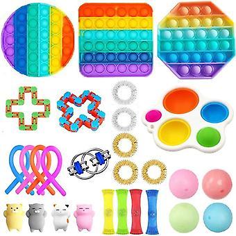 28pcs לארוז צעצוע חושי להגדיר Antistress הקלה צעצועים פידג'ט