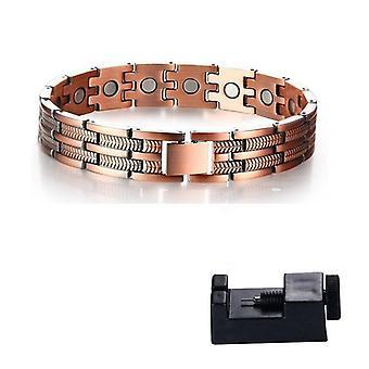 Elegant Pure Copper Therapy Mens Pain Relief Bracelets