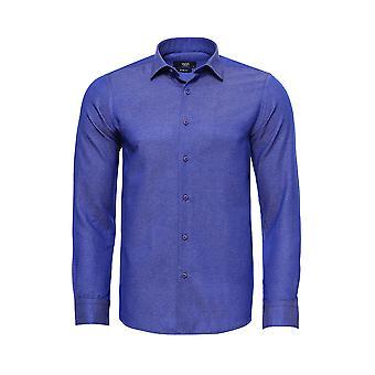 Indigo blue patterned shirt | wessi